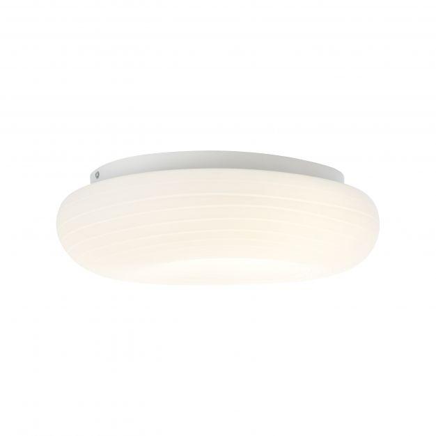 Brilliant Pebbles - plafondverlichting - 34 x 48 x 14,5 cm - 3 stappen dimmer - 30W LED incl. - wit