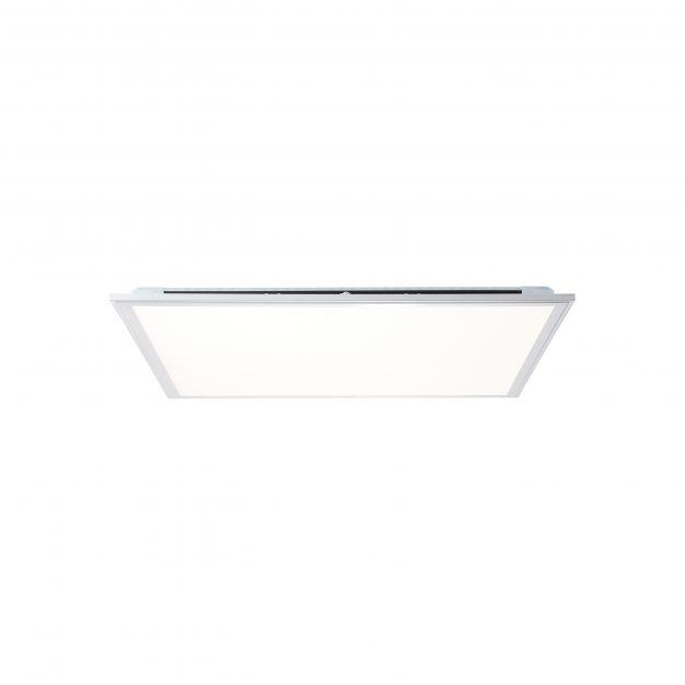Brilliant Alissa - ledpaneel RGB met afstandsbediening - 59,5 x 59,5 x 5,3 cm - 42W dimbare LED incl. - wit