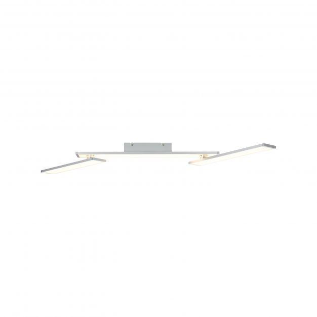 Brilliant Entrance - plafondverlichting - 116 x 67 x 8,2 cm - 30W easyDim LED incl. - aluminium en wit