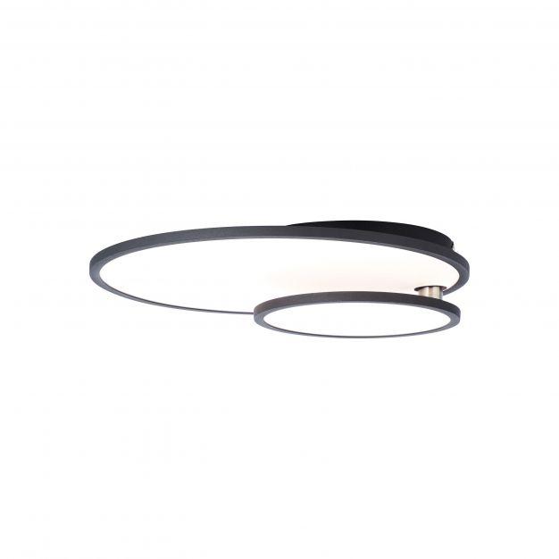 Brilliant Bility - plafondverlichting - 60,5 x 45 x 7,8 cm - 36W easyDim LED incl. - wit en zwart
