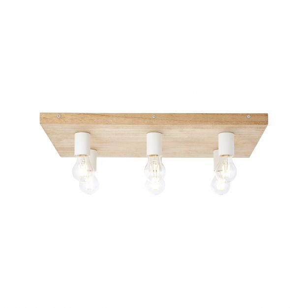 Brilliant Panto - plafondverlichting - 58 x 38 x 9,5 cm - lichtbruin