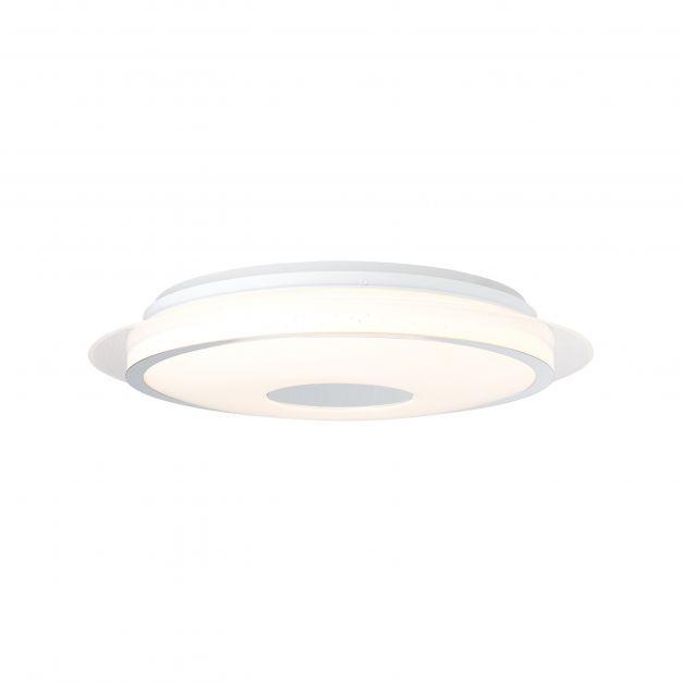 Brilliant Viktor - plafondverlichting RGB met afstandsbediening - Ø 45 x 10,2 cm - 24W dimbare LED incl. - wit en zilver
