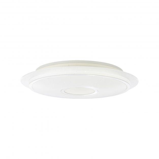Brilliant Viktor - plafondverlichting RGB met afstandsbediening - Ø 57 x 11,5 cm - 32W dimbare LED incl. - wit en zilver