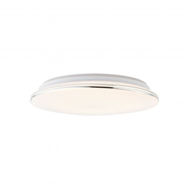 Brilliant Edna - plafondverlichting RGB met afstandsbediening - Ø 40 x 9,7 cm - 24W dimbare LED incl. - wit
