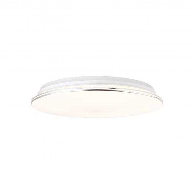 Brilliant Edna - plafondverlichting RGB met afstandsbediening - Ø 50 x 11,2 cm - 32W dimbare LED incl. - wit