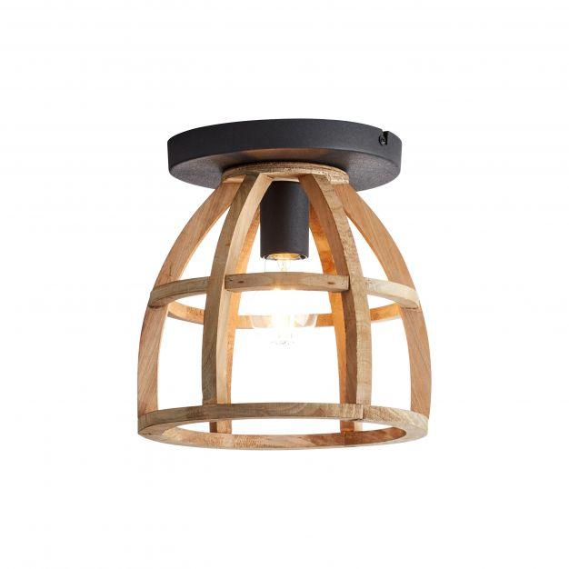 Brilliant Matrix Wood - plafondverlichting - Ø 25 x 25 cm - antiek hout
