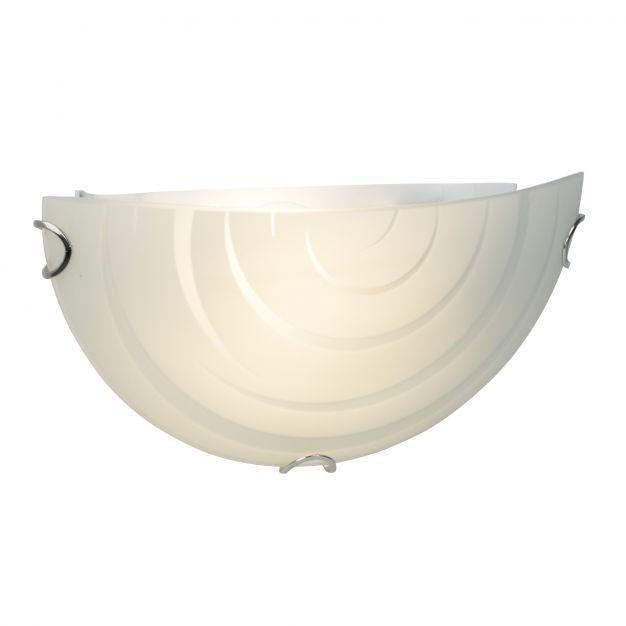 Brilliant Melania - wandverlichting - 31 x 10 x 15 cm - 9W LED incl. - mat glas met spiraalpatroon