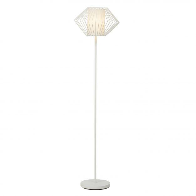 Brilliant Faustine - staanlamp - 147 cm - wit