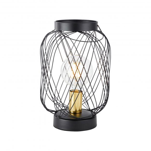 Brilliant Brogan - tafellamp - Ø 20,5 x 31 cm - zwart