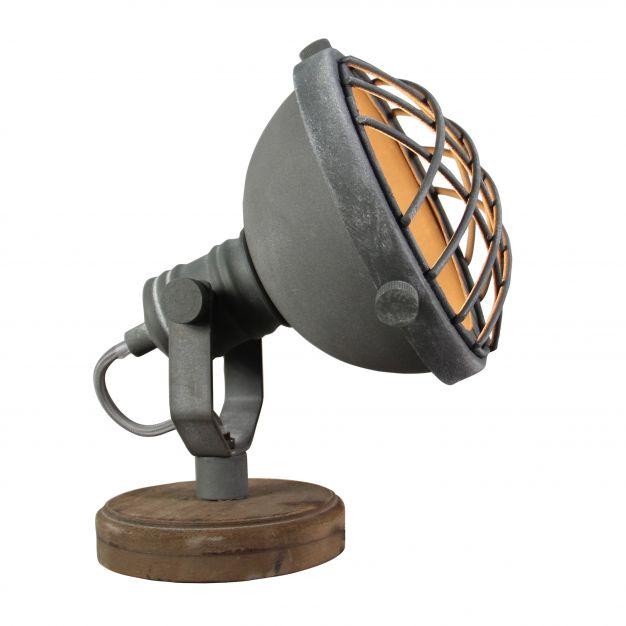 Brilliant Mila - tafellamp - 21 cm - betongrijs
