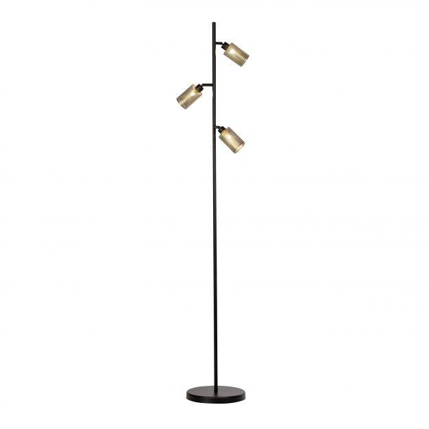 Brilliant Mesh - staanlamp - 161 cm - zwart / antiek messing