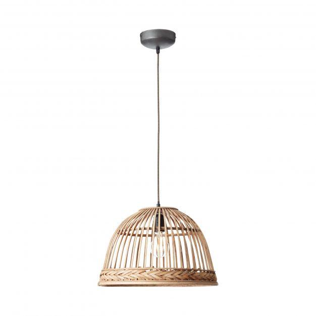 Brilliant Padget - hanglamp - Ø 42 x 126 cm - lichtbruin (einde reeks!)