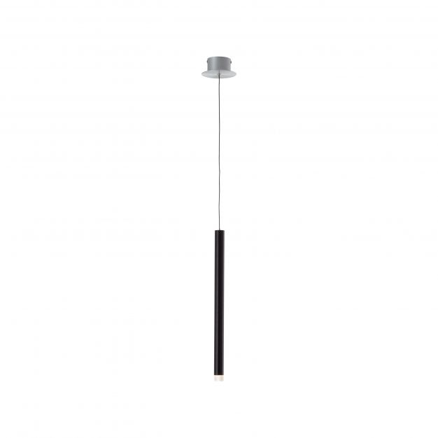 Brilliant Cembalo - hanglamp - Ø 12 x 120 cm - 5W LED incl. - zwart