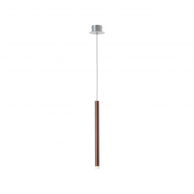 Brilliant Cembalo - hanglamp - Ø 12 x 120 cm - 5W LED incl. - bruin