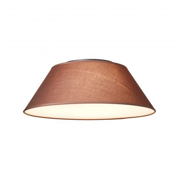 Brilliant Amoa - plafondverlichting - Ø 60 x 20 cm - bruin
