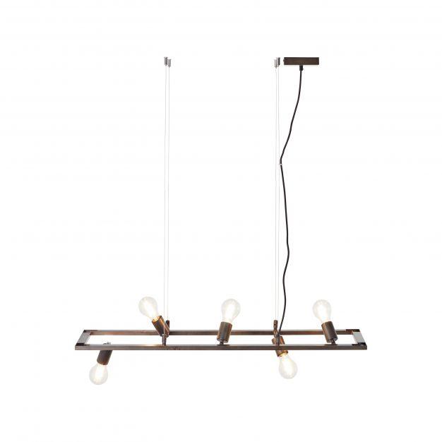 Brilliant Kalla - hanglamp - 100 x 28 x 100 cm - antiek en zwart