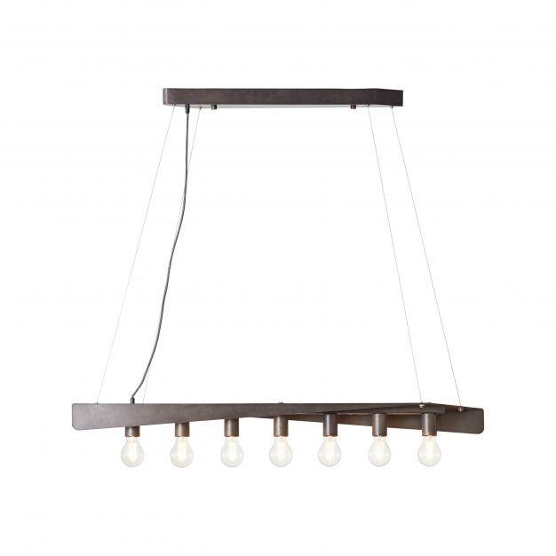Brilliant Nux - hanglamp - 118 x 12 x 104 cm - antiek en zwart
