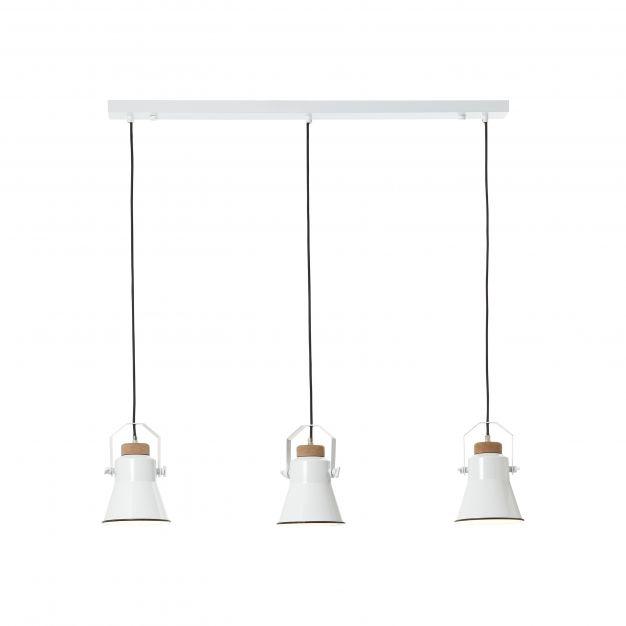Brilliant Harrow - hanglamp - 90 x 15 x 123 cm - wit