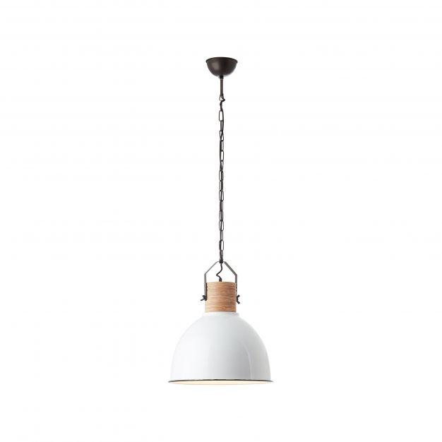 Brilliant Barrow - hanglamp - Ø 42 x 147 cm - wit