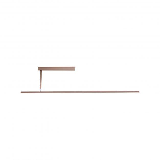 Brilliant Skinn - plafondverlichting - 121 x 4 x 27,5 cm - 29W dimbare LED incl. - bruin