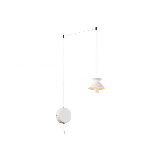 Brilliant Parachute - hanglamp - Ø 200 x 200 cm - 3 stappen dimmer - 10W LED incl. - wit