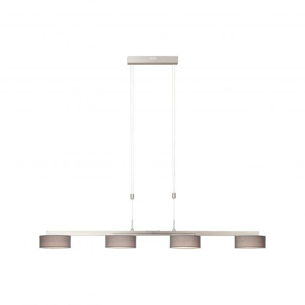 Brilliant Banda - hanglamp - 136 x 57 x 175,5 cm - 4 x 10,75W LED incl. - grijs