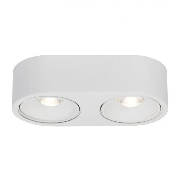 AEG Leca - opbouwspot 2L -  26 x 13 x 7 cm - 2 x 9W dimbare LED incl. - wit