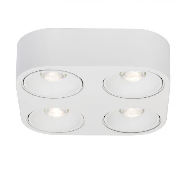 AEG Leca - opbouwspot 4L - 26,3 x 26,3 x 7 cm - 4 x 10W dimbare LED incl. - wit