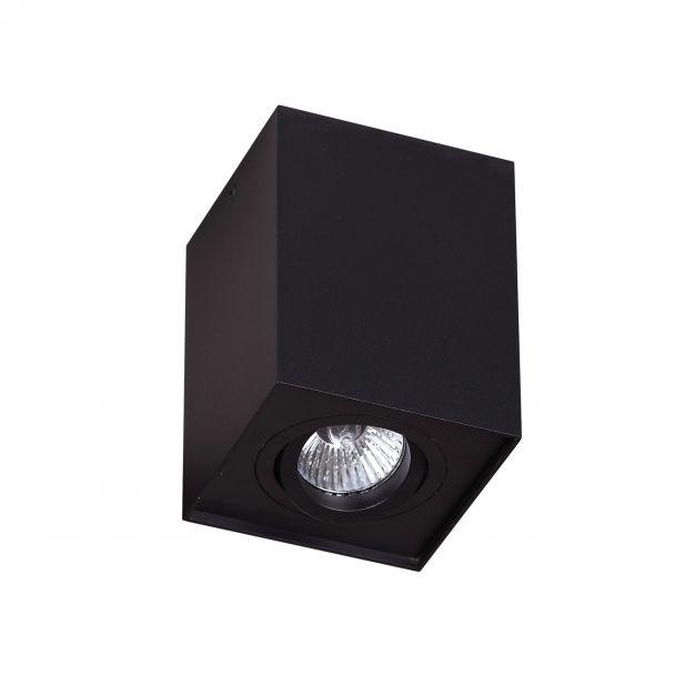 Maxlight Basic Square - plafondspot - Ø 9 x 12 cm - zwart