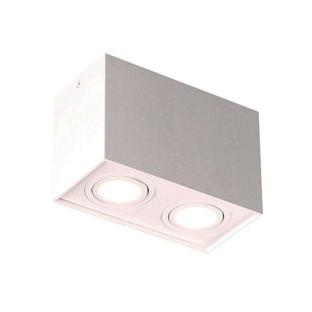 Maxlight Basic Square - opbouwspot 2L - 19 x 12 cm - wit