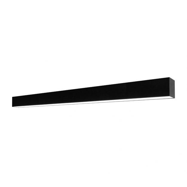 Lichtkoning Linear - plafondverlichting - 113,5 x 6,5 x 5 cm - 36W LED incl. dimbaar - zwart - warm witte lichtkleur