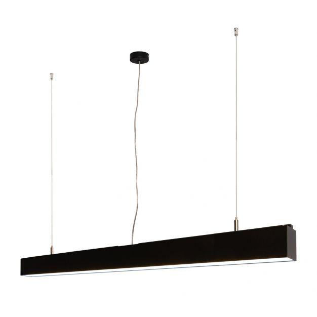 Lichtkoning Linear - hanglamp - 113,5 x 5 x 200 cm - 36W LED incl. - zwart - witte lichtkleur