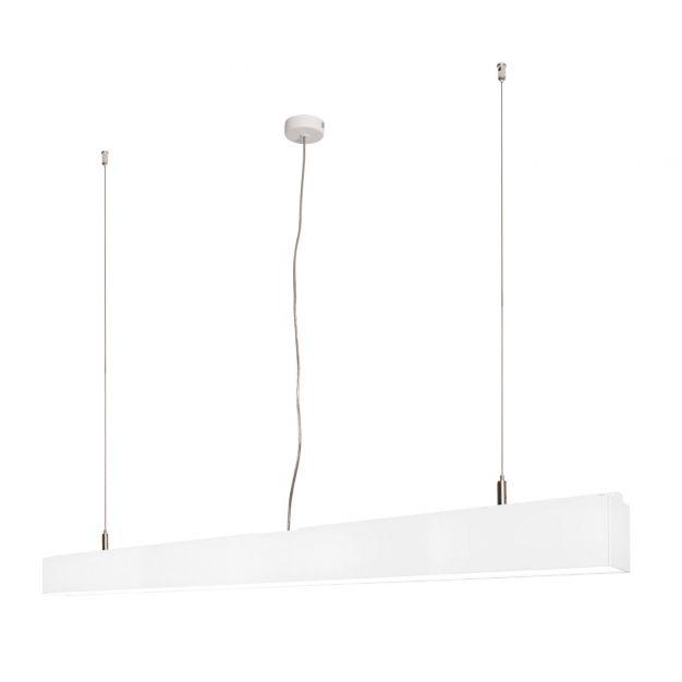 Lichtkoning Linear - hanglamp - 113,5 x 5 x 200 cm - 36W LED incl. dimbaar - wit - warm witte lichtkleur