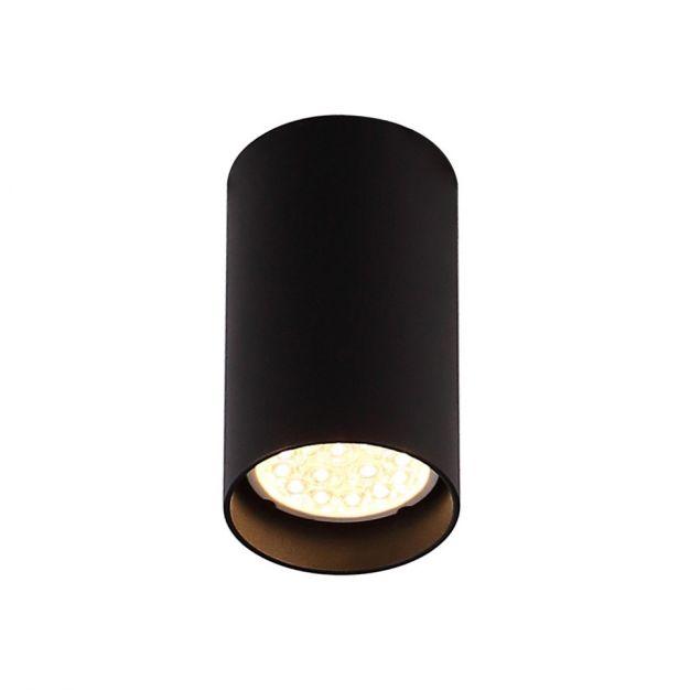Maxlight Pet Round - opbouwspot - 10 cm - zwart