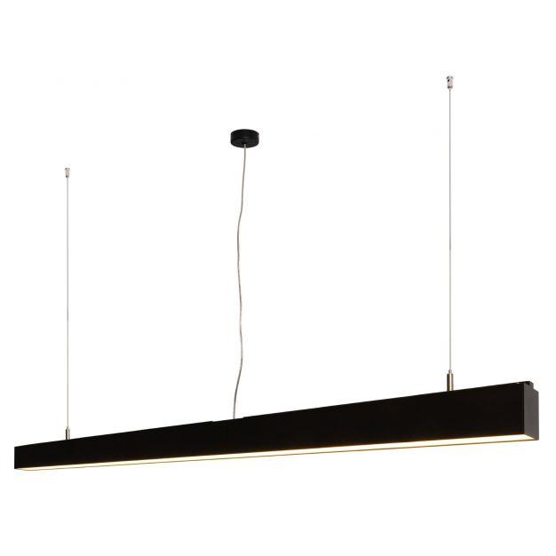 Lichtkoning Linear - hanglamp - 170 x 5 x 200 cm - 54W LED incl. dimbaar - zwart - warm witte lichtkleur