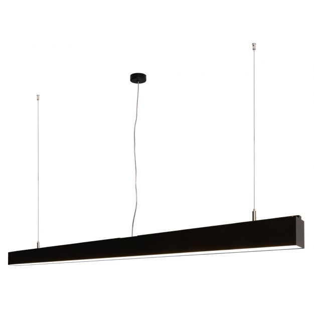 Lichtkoning Linear - hanglamp - 170 x 5 x 200 cm - 54W LED incl. - zwart - witte lichtkleur