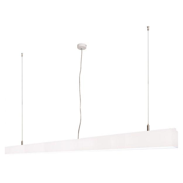 Lichtkoning Linear - hanglamp - 170 x 5 x 200 cm - 54W LED incl. - wit - witte lichtkleur