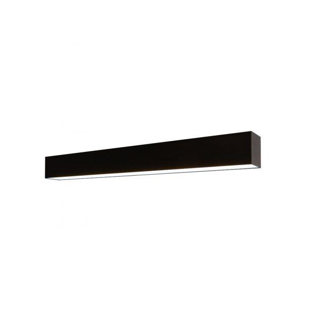 Lichtkoning Linear - plafondverlichting - 57 x 6,5 x 5 cm - 18W LED incl. - zwart - witte lichtkleur