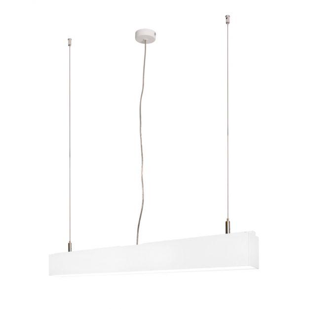 Lichtkoning Linear - hanglamp - 57 x 5 x 200 cm - 18W LED incl. - wit - warm witte lichtkleur