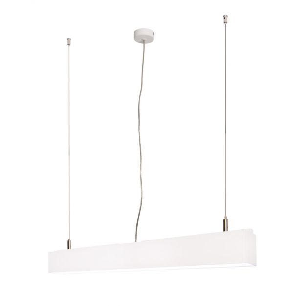 Lichtkoning Linear - hanglamp - 57 x 5 x 200 cm - 18W LED incl. - wit - witte lichtkleur