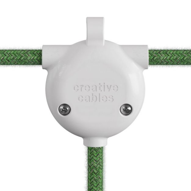 Creative Cables Eiva 3-way - siliconen kabelhouder - 6,5 x 5,3 x 2 cm - IP65 - wit