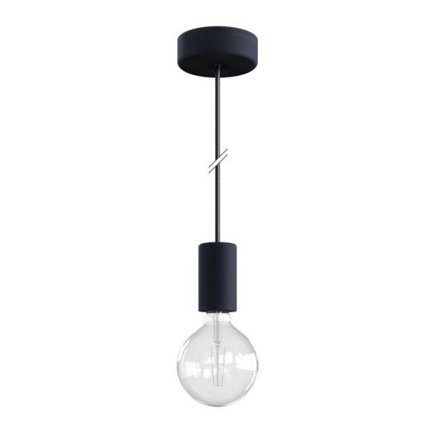 Creative Cables Eiva - buitenhanglamp met siliconen plafondbevestiging - Ø 12,5 x 164,5 cm - IP65 - steenkool zwart