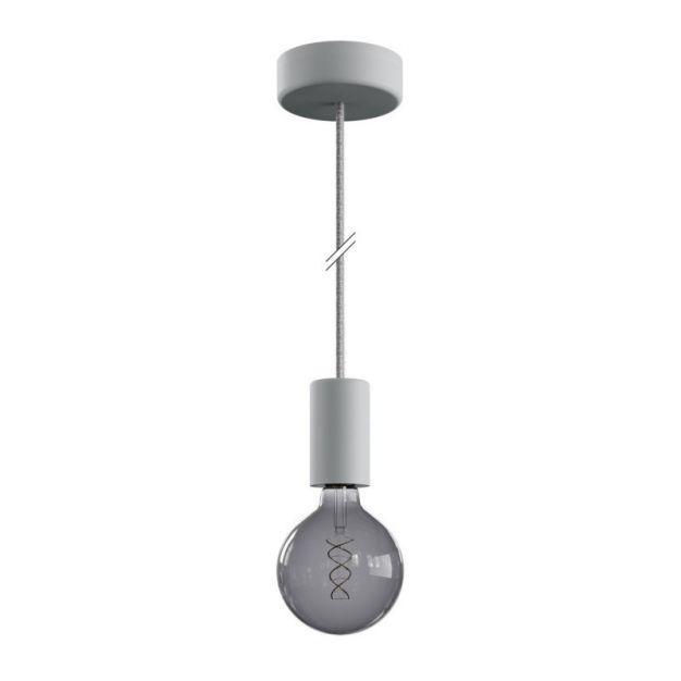 Creative Cables Eiva - buitenhanglamp met siliconen plafondbevestiging - Ø 12,5 x 164,5 cm - IP65 - grijs