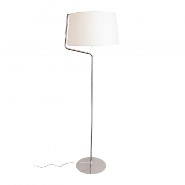 Maxlight Chicago - staanlamp - 155 cm - wit en chroom