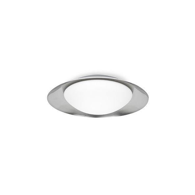 Faro Side - plafond/wandverlichting - Ø 45 x 12 x 21 cm - 17W LED incl. - zwart & nikkel