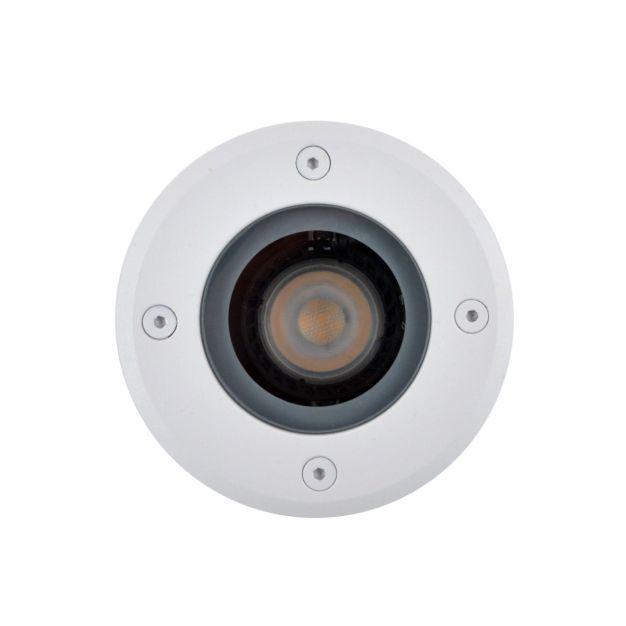 Lichtkoning Hades - ronde grondspot voor buiten - Ø 11 x 15 cm - IP67 - wit
