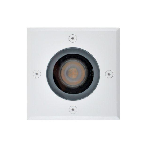 Lichtkoning Hades - vierkante grondspot voor buiten - 11 x 11 x 15 cm - IP67 - wit