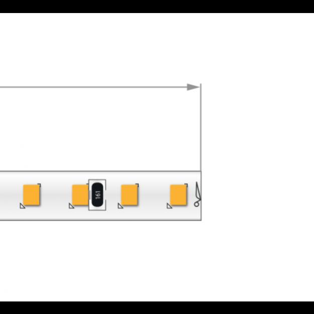 KLUS LED strip - 0,5cm breed, 500cm lengte - 24Vdc - dimbaar - 9,1W LED per meter - IP20 - 2700K