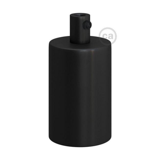 Creative Cables - E27 fitting met cilindervormige metalen kabelhouder - Ø 4,2 x 6,2 cm - zwart