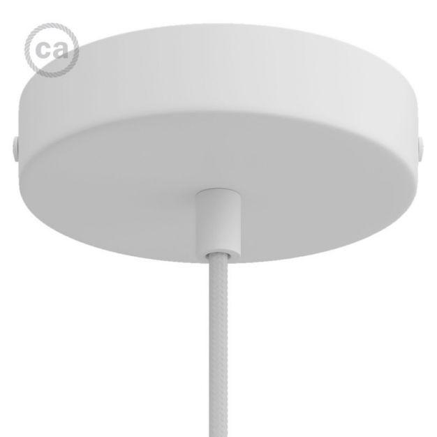 Creative Cables - plafondrozet - Ø 12 x 2,5 cm - wit